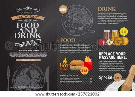 Restaurant menu design. - stock vector