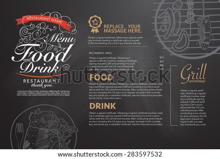 Restaurant menu design. - stock vector