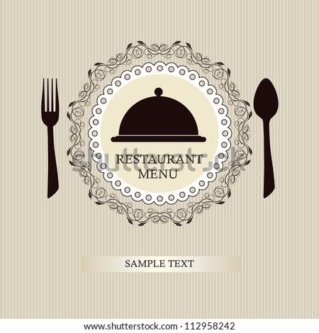 Restaurant menu design / Menu design with spoon and fork - stock vector