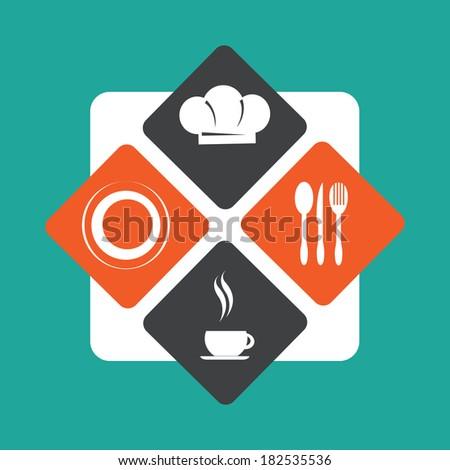 Restaurant menu design over blue background,vector illustration - stock vector