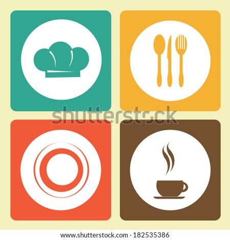 Restaurant menu design over colorful background,vector illustration - stock vector