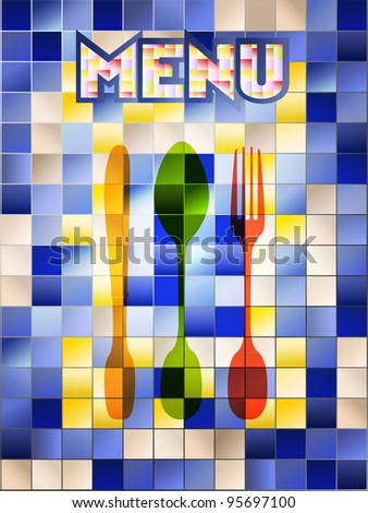 restaurant menu design template,copy space, vector - stock vector