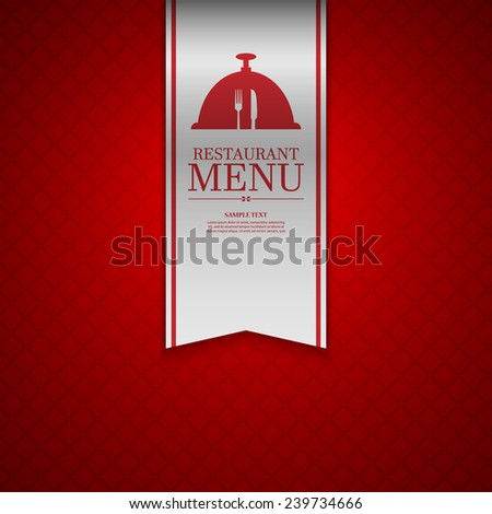 Restaurant menu design.vector - stock vector