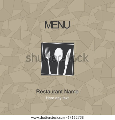 Restaurant menu design. Vector - stock vector