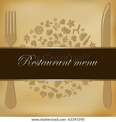 Restaurant Menu Design, Vector Illustration - stock vector
