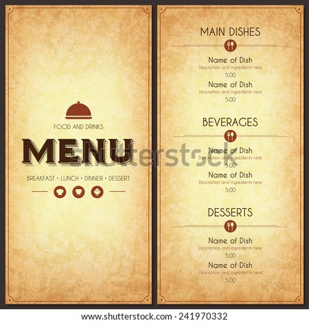 menu card stock images royalty free images vectors shutterstock