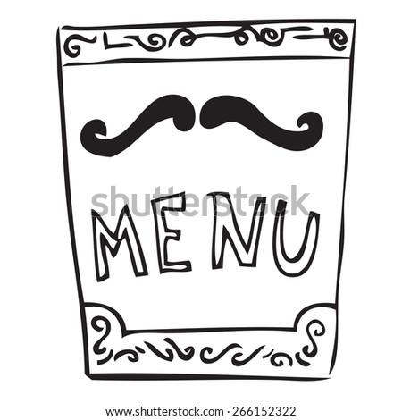 Restaurant Menu Doodle - stock vector