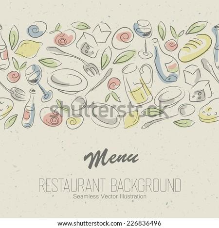 Restaurant menu elegant design. Vector - stock vector