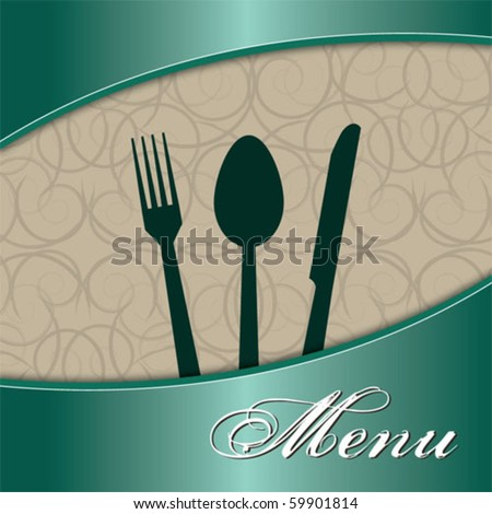 Restaurant menu green - stock vector