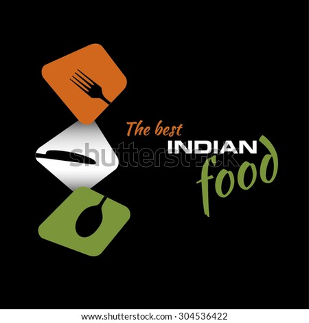 Restaurant menu Indian food - stock vector