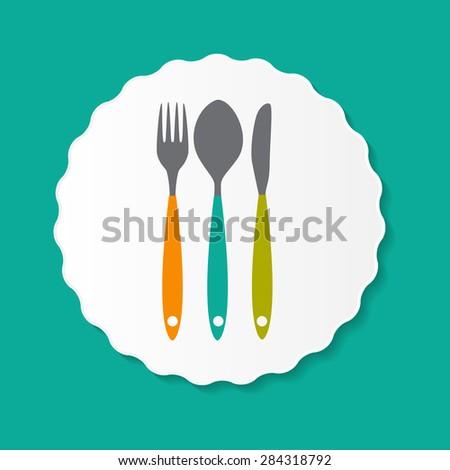 Restaurant Menu Label Template Vector Illustration EPS10 - stock vector