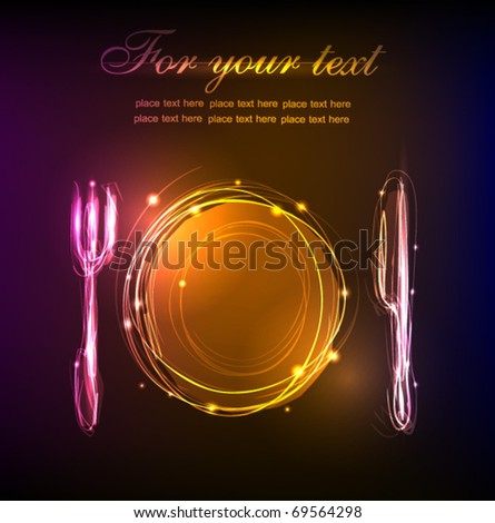 "restaurant menu ""made of light"" collection - stock vector"