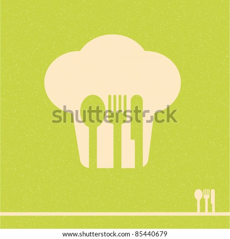 restaurant menu retro poster - stock vector