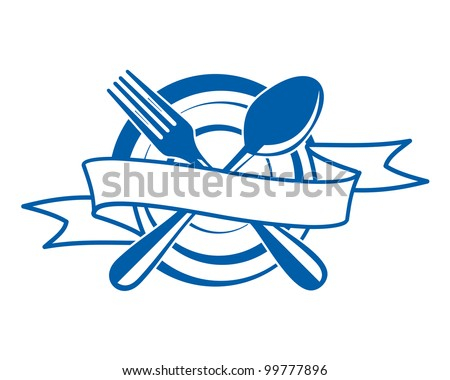 Restaurant menu symbol. Jpeg version also available in gallery - stock vector