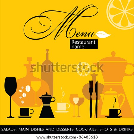 Restaurant menu vector - stock vector