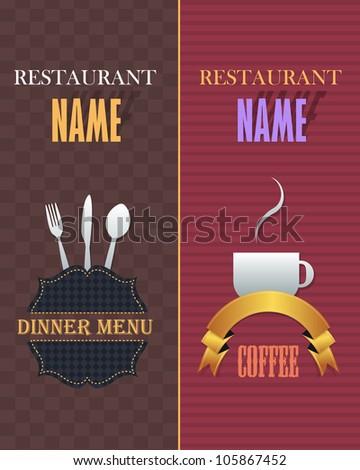 Restaurant Menu Vector Design - stock vector
