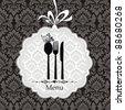 Restaurant menu vector ornament vintage. Vector illustration - stock vector