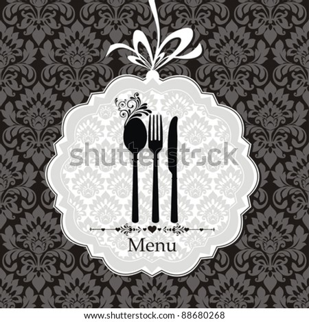 Restaurant menu vector ornament vintage. Vector illustration - stock vector