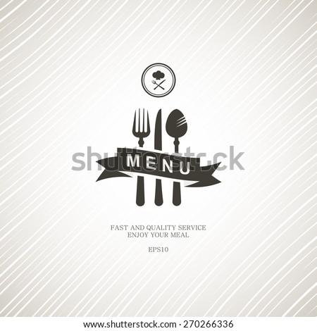 Restaurant menu with cutlery. - stock vector