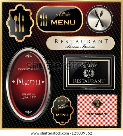 Restaurant or cafe label - stock vector