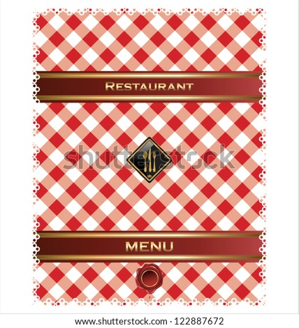 Restaurant or cafe menu design - stock vector