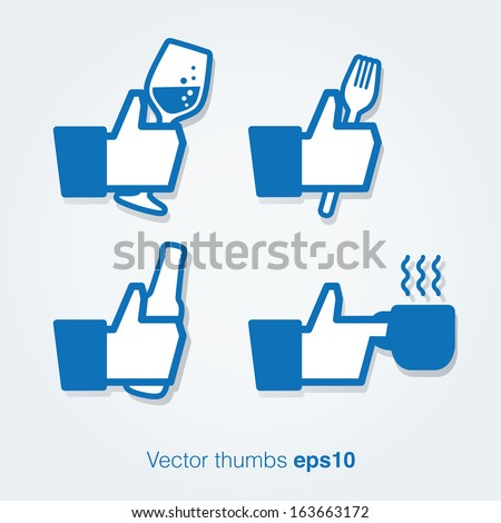 Restaurant or cafe thumbs - stock vector