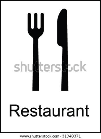 Restaurant Public Information Sign - stock vector
