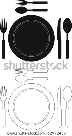 restaurant set - stock vector