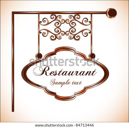 restaurant sign - stock vector