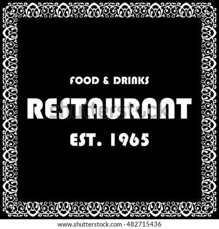 Restaurant tag. Vector illustration