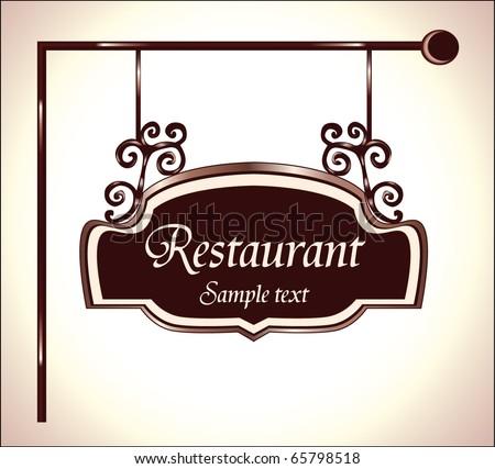 restaurant vector sign - stock vector