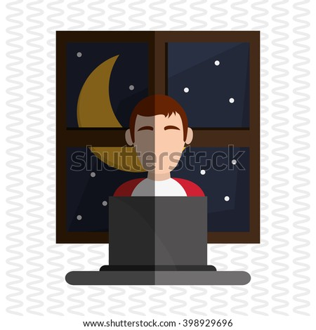Resting and sleep design , vector illustration