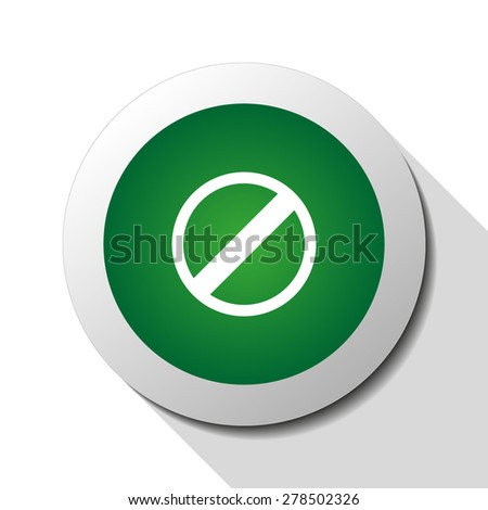 Restricted, web icon. Vector design - stock vector