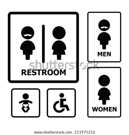 Restroom Icon set - stock vector