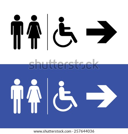 Restroom icon, toilette signs - stock vector