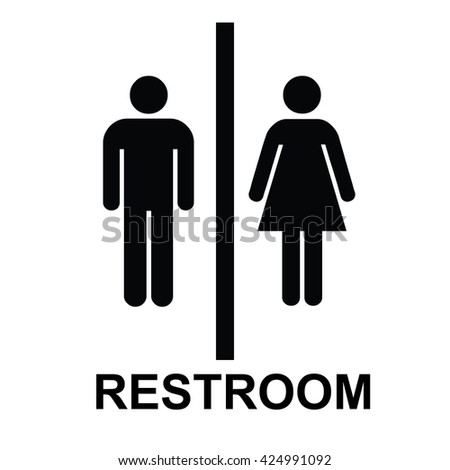 Restroom icon. Vector illustration - stock vector