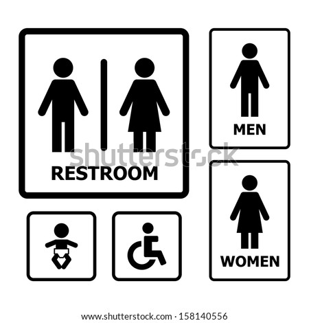 Restroom Sign vector - stock vector