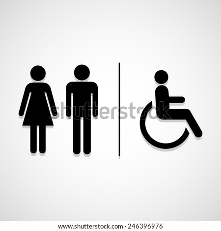 Restroom Signs icon great for any use. Vector EPS10. - stock vector