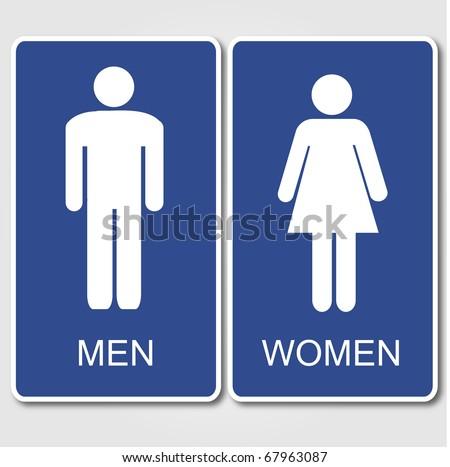 Restroom Signs Illustration - stock vector
