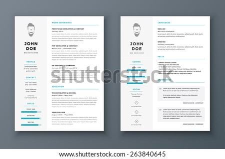 I Need To Make A Resume Excel Resume Cv Vector Template Awesome Job Stock Vector   First Year Teacher Resume Pdf with Teacher Assistant Resume Sample Word Resume And Cv Vector Template Awesome For Job Applications Experienced Customer Service Resume