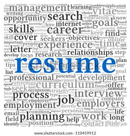 resume concept word tag cloud on เวกเตอร สต อก 110459912 shutterstock