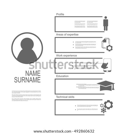 Resume / CV template design