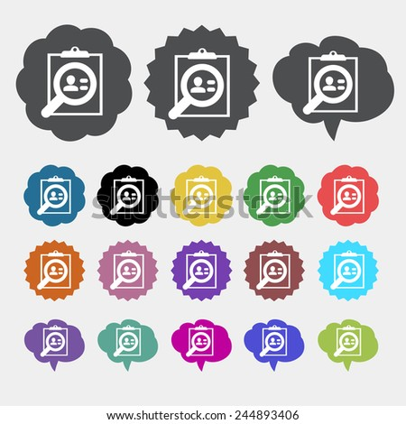 resume icon - stock vector