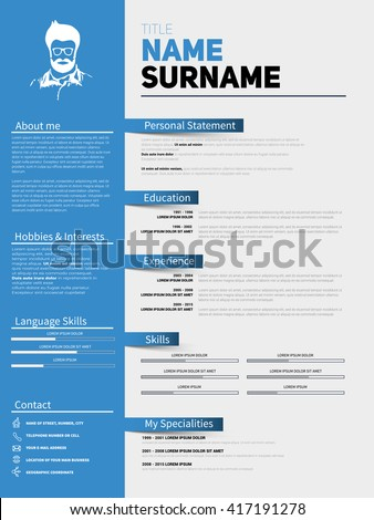 Resume minimalist cv resume template simple resume minimalist cv resume template with simple design company application cv curriculum vitae yelopaper Choice Image