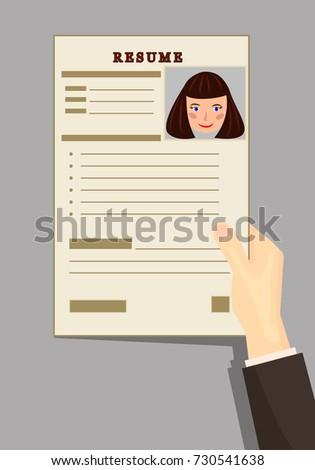 Resume Resume Girl Curriculum Vitae Resumes Stock Vector 730541638    Shutterstock  Resume And Resume