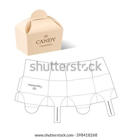 Retail box blueprint template vector de stock398418268 shutterstock retail box with blueprint template malvernweather Images