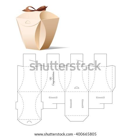 Retail box blueprint template vector de stock400665805 shutterstock retail box with blueprint template malvernweather Images
