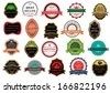 Retail labels and banners set in vintage style for design - stock