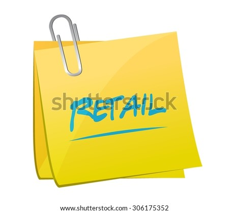 retail post message sign concept illustration design graphic - stock vector