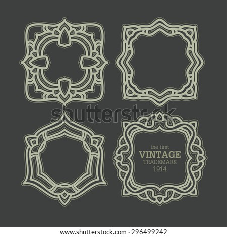 Retor luxury Logos template for Business sign - stock vector
